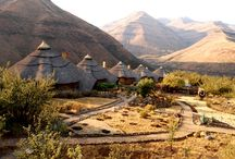 Maliba Mountain Lodge / The only 5 star lodge in Lesotho. There are 6 large and exclusive stone and thatch luxury chalets. Each one has its own luxurious bath, fireplace, and private patio and viewing deck. Rates are inclusive of all meals. http://maliba-lodge.com/lodges-and-rates/5-star-chalet/ / by Maliba Lodge, Lesotho