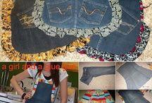 Vieux jeans tablier