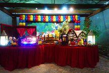 mesa branca de neve / mesa decorativa para festas infantis, mesas rusticas e provençais.