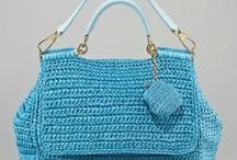 Crochet - Bags, purses, totes, with handles / by Crocheting Lawyer