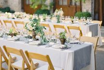 Muted Blue & Peaches Wedding