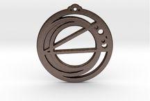 Zodiac Series Pendants by Dragonmun / The Zodiac Pendant I have for sale at https://www.shapeways.com/shops/dragonmun