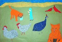 Hazel Kinney 1929 - 2007 / Hazel Kinney est née en 1929 à Mason County dans le Kentucky. Elle épouse Noah Kinney en 1960 et s'installe dans la ferme qu'ils partagent avec Charley, le frère de Noah. Charley s'adonne à la peinture, Noah aux découpages. Ce n'est qu'à la mort de son mari que Hazel Kinney commence à dessiner, sur le thème des animaux. Son œuvre est présente dans la collection du Folk Art Center (Kentucky). https://dominiquepelouxraynal.blogspot.fr/2017/01/hazel-kinney-1929-2007.html