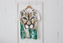 Art t-shirts / Hand painted t-shirts, painted with water colours for cotton. Art can be worn! Thelli design