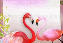Flamingo Summer / Images from our artist portfolios featuring the pink bird of the moment  #flamingo #pink #bird #tropical #summer #trend #pattern #exotic