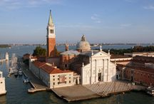 San Giorgio Maggiore island / San Giorgio Maggiore is one of the islands of Venice, Italy, lying east of the Giudecca and south of the main island group. San Giorgio Maggiore is now the headquarters of the Cini Foundation arts centre, known for its library and is also home to the Teatro Verde open-air theatre. San Giorgio is now best known for the Church of San Giorgio Maggiore, designed by Palladio and begun in 1566.