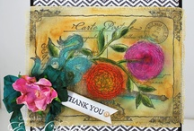 Botanical Postcards Background Stamp