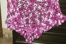 meus trabalhos. / Meus trabalhos de crochê.