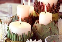 Thanksgiving decor on a dime / Tips for decorating your Thanksgiving dinner table with natural and economical stuff.