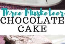 3 MUSKETEER CHOCOLATE CAKE