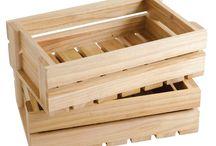 Wooden box storage