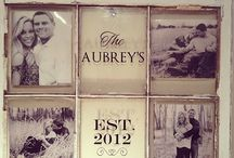 Old window photo frames