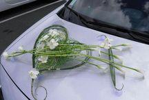 Svatebni aranzma na auto