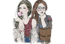 desenhos femininos