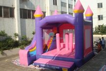 Inflatable Bouncer / All the inflatables bouncers contain so many games that are ideal for the kids. This is an outdoor game which does not require your kid to go out. Rather they can play at the bouncer in the playground at your home.