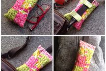 Clip on glasses case