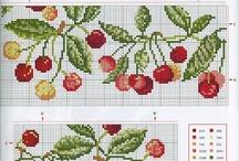 вышивка крестом - фрукты, овощи