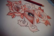 Eye roses / Art roses eye custom drawing
