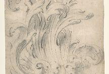 Эскизы, гравюры, рисунки декора