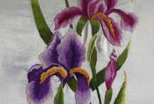 orquidea embroidering