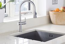 """My DLY Kitchen / Learn the """"DLY"""" happy dance when you """"do luxury yourself"""" with a kitchen featuring a Franke Fast-In sink or faucet. You'll get unique style, precision craftsmanship – and a feeling of accomplishment that can't be described by mere words.  #DLY #Sweepstakes #FrankeFastIn"""