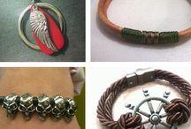 PULSEIRAS MASCULINAS / pulseiras em couro bracelets leather