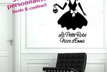 Stickers pour fille / Création de stickers personnalisés pour une décoration originale et unique de la chambre d'une fille.