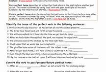 Perfect tense verbs / by Kelly Munoz