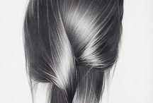 Drawing - hair