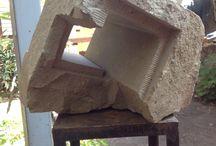 Lucho Inostroza Saavedra / Escultura en Piedra Amarilla de Chacabuco