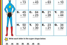 Superhero Addition / #worksheets