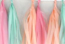 Tassel garland slinger / De nieuwe trend uit Amerika, Tassel slingers in mooie vrolijke pastel tinten om je bruiloft of feest locatie op te leuken.