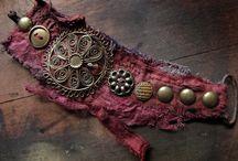 Fabric cuffs/ bracelets