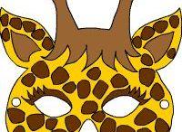 zsiráf maszk