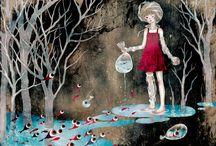 KHOA LEE / Es Una diseñadora gráfica vietnamita Que Realiza Increíbles ILUSTRACIONES EN LAS Que Nos Muestra una niñas o mujeres Jóvenes Como protagonistas de la escena. De color Su favorito es el rojo y lo EE.UU. comúnmente es SUS ILUSTRACIONES.  Lee TIENE UNA obra Bastante diversa, ALGUNAS de Sus ILUSTRACIONES son tan tiernas que parecen sacadas de cuentos de Niños y otras son más oscuras y contienen Mensajes más profundos.