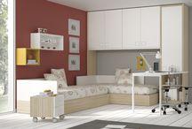 Camas compactas y nidos / #Dormitorios juveniles y originales, con #camas #compactas y #nidos, de gran capacidad de almacenaje. Escritorios y armarios personalizables y a medida. La solución de #espacio de gran #diseño para los #jóvenes.