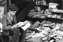 vintage, books and typewriters