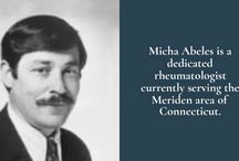 About Micha Abeles / Micha Abeles is an experienced and highly published rheumatologist. He currently works at his private practice with his son, Aryeh, in Meriden, Connecticut, which is conveniently located halfway between New Haven and Hartford.  Micha is a widely published and well-read medical professional, board certified in both rheumatology and internal medicine for over four decades from the American Board of Internal Medicine.