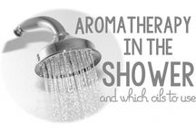 Aromatherapy in the Shower / It's pretty easy to start your day with essential oils. Aromatherapy has been proven to be effective, therapeutic, and all around effective. It's super easy to just put three drops of essential oil in the shower out of the path of the water. The steam and heat of the shower will help with this process, and soon you're in the middle of an aromatherapy session first thing in the morning. You could even keep a few bottles of essential oils in the shower!