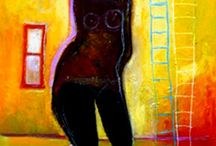 Susan Hargrove's figurative paintings / I love painting and creating! These are some of my expressionistic figurative painting.Mixed media paintings, I love playing with all kinds of materials in my artwork.