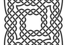 Celtic patterns.