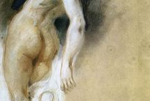 Nude painting: pastel & oils / Mostly turn of XIX to XX century, European and alike