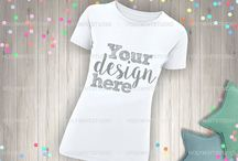 T-Shirt Mockups / Our gorgeous styled desktop photos are perfect to showcase your business, teaching your products and other purposes. Easy to place your own design and give them glam style ♥