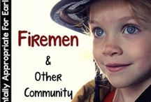 Fireman Theme / Apple thematic fun for kindergarten math, reading, social studies, art, music, writing, and science.