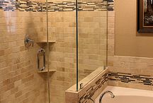 Tiled showers / by Kathy Cassady Olson