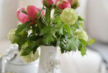 Flowers, veggies, fruits