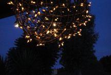 diy fairy light chandeliers