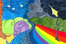 """Illustrazioni per il  Progetto Jack Water by Emanuela Squillacioti / Alcuni brani musicali dei due ultimi Cd:""""Greetings from Savannah"""" e """"Pereppeppè"""" del talentuoso artista """"Jack Water"""" sono stati da me illustrati. Tuffatevi in questo mondo magico e colorato e che la musica ci accompagni sempre!!!!"""
