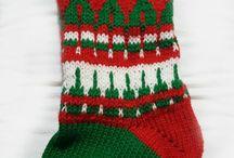 Natal / Botas de Natal em trico jacquard, personalizadas