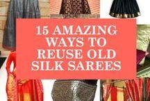 Re-using silk  sarees